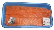 商品の詳細画像1: ノルウェー産 アトランティックサーモンフィレ(刺身用) 約1.1kg前後