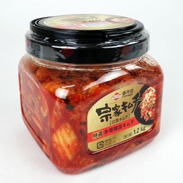 画像1: うま味アップ! 宗家(チョンカ)特選白菜キムチ 1.2kg