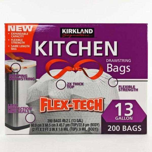 画像2: カークランド ひも付ゴミ袋 キッチンバッグ 49.2L×200枚
