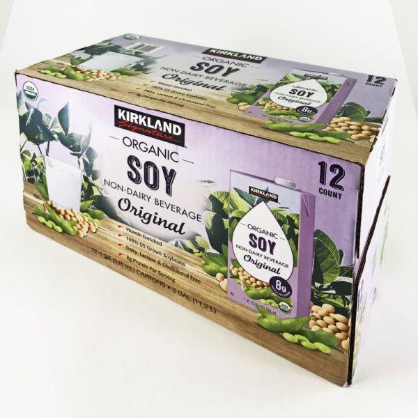 画像1: KS オーガニック 有機豆乳飲料 プレーン味 946mlx12 梱12.3kg