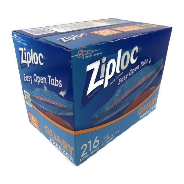 画像1: Ziploc ジップロック ダブルジッパー 冷凍用 216枚