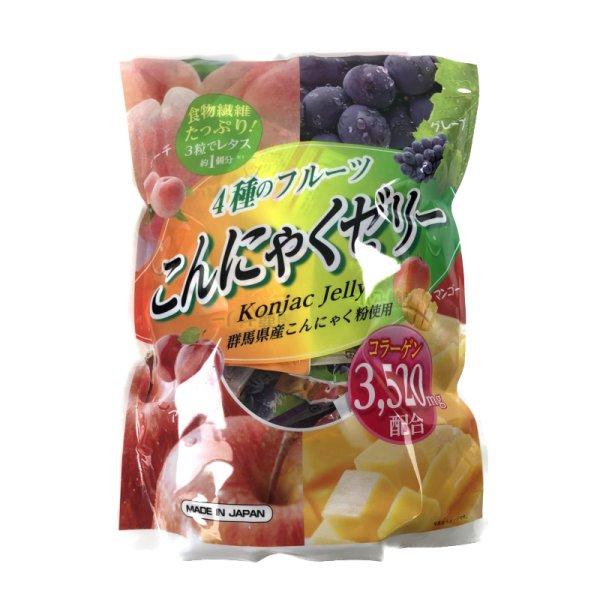 画像1: 雪国アグリ こんにゃくゼリー 64袋 4-Fruit Konjac Jelly 64pk