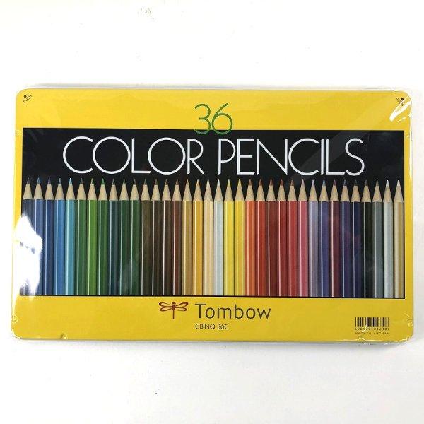 画像1: トンボ鉛筆 缶入り 色鉛筆 36色セット