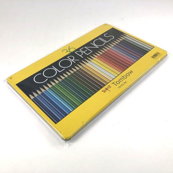 画像2: トンボ鉛筆 缶入り 色鉛筆 36色セット