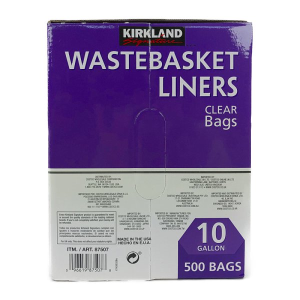 画像3: カークランド ゴミ袋 37.8L 透明 500枚入り KS 10GAL Waterbasket Liner