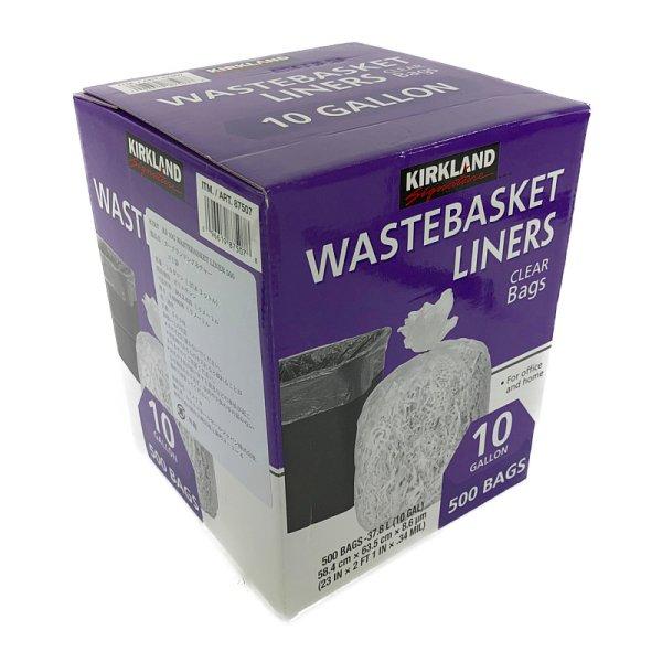画像1: カークランド ゴミ袋 37.8L 透明 500枚入り KS 10GAL Waterbasket Liner