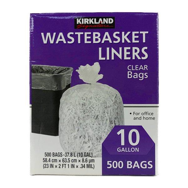画像2: カークランド ゴミ袋 37.8L 透明 500枚入り KS 10GAL Waterbasket Liner