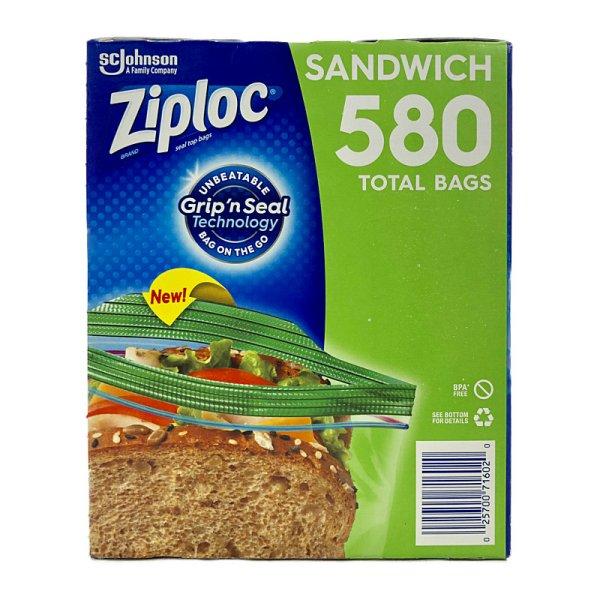 画像3: ジップロック サンドイッチバッグ 580枚 (145枚×4) Ziploc Sandwich Bags