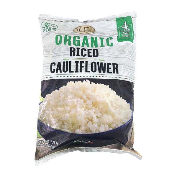 画像1: オーガニック カリフラワーライス 340g×4袋 Via Emilia Organic Riced Cauliflower
