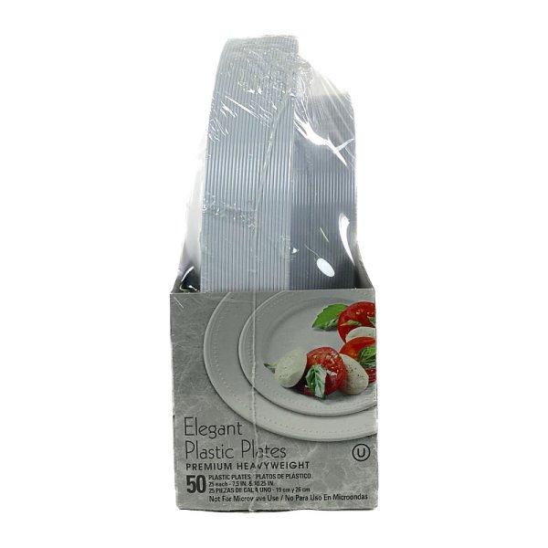 画像3: カークランド エレガント プラスティック プレーツ 50枚セット (19cm×25枚、26cm×25枚) KS Elegant Plastic Plates