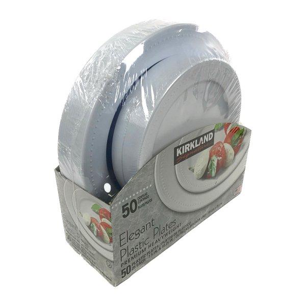 画像2: カークランド エレガント プラスティック プレーツ 50枚セット (19cm×25枚、26cm×25枚) KS Elegant Plastic Plates