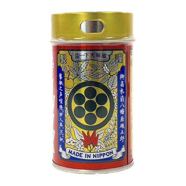 画像1: 八幡屋礒五郎 七味ごま缶 60g Seven Flavor Chili Pepper