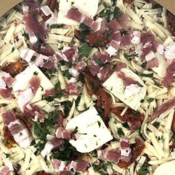 画像3: 丸型ピザ パンチェッタ & モッツァレラ 直径約40cm (16インチ) Round Pizza Pancetta