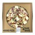 画像1: 丸型ピザ パンチェッタ & モッツァレラ 直径約40cm (16インチ) Round Pizza Pancetta (1)
