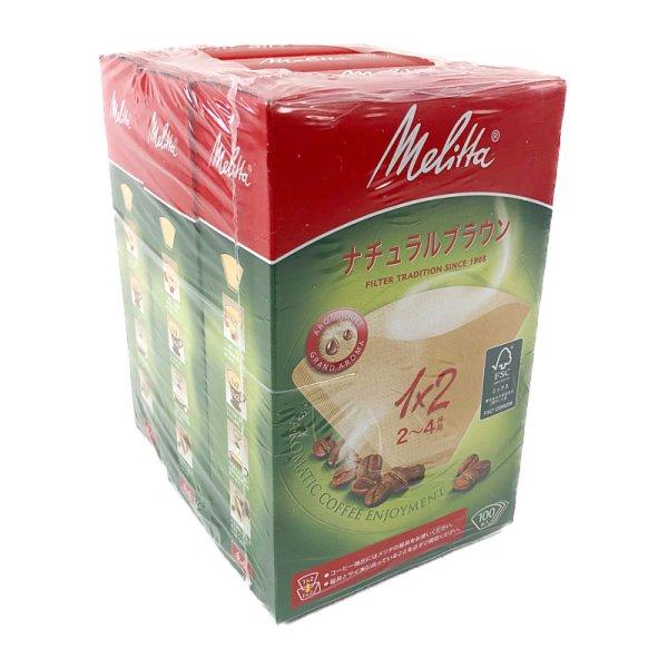画像1: メリタ コーヒーフィルター 1×2 アロマジック ナチュラルブラウン 2-4杯用 100枚×3箱 Mekitta Cofee Filter 1×2