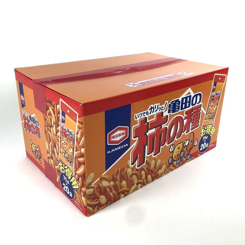 画像1: 亀田製菓 柿の種BOX 75g×20袋 Kameda Kakinotane Box